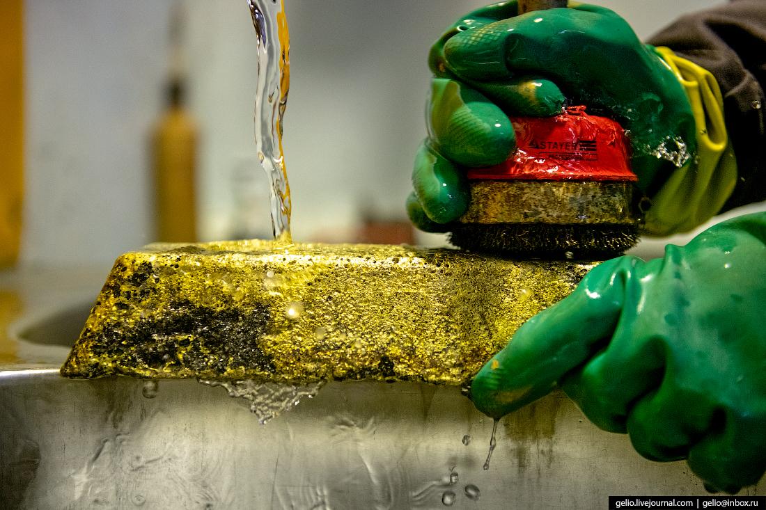 полюс добыча золота выплавка