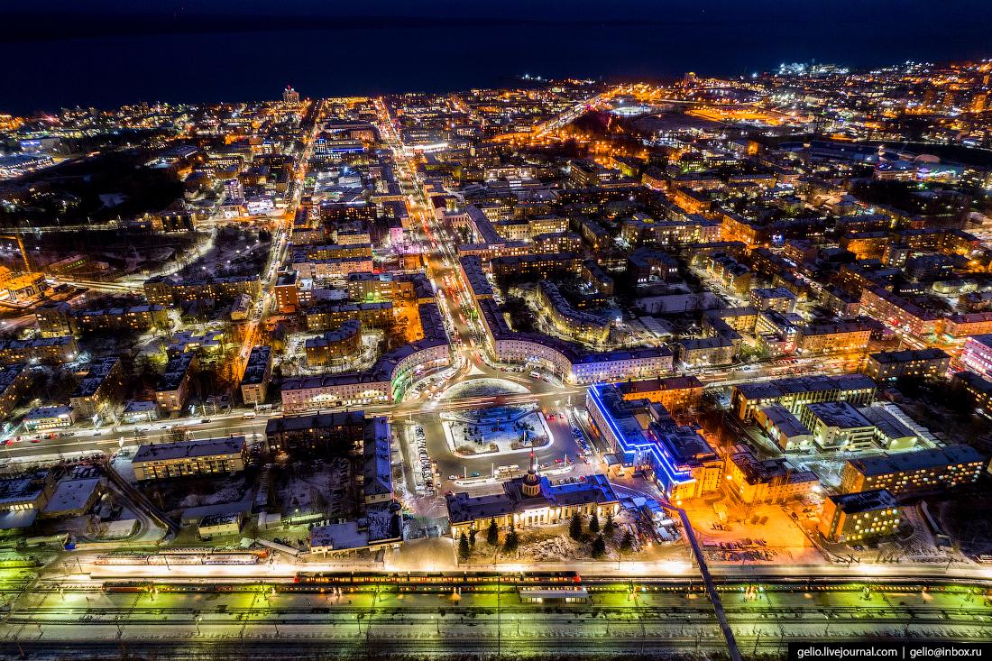 площадь гагарина, Петрозаводск с высоты