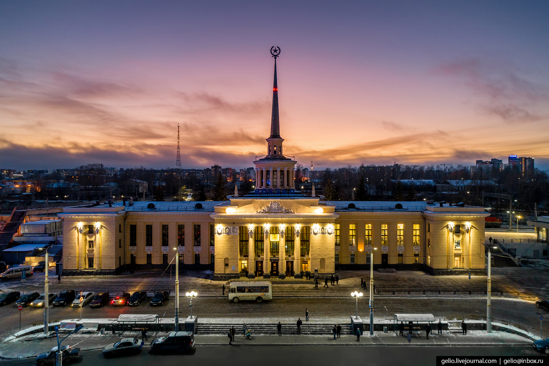 Петрозаводск с высоты, вокзал