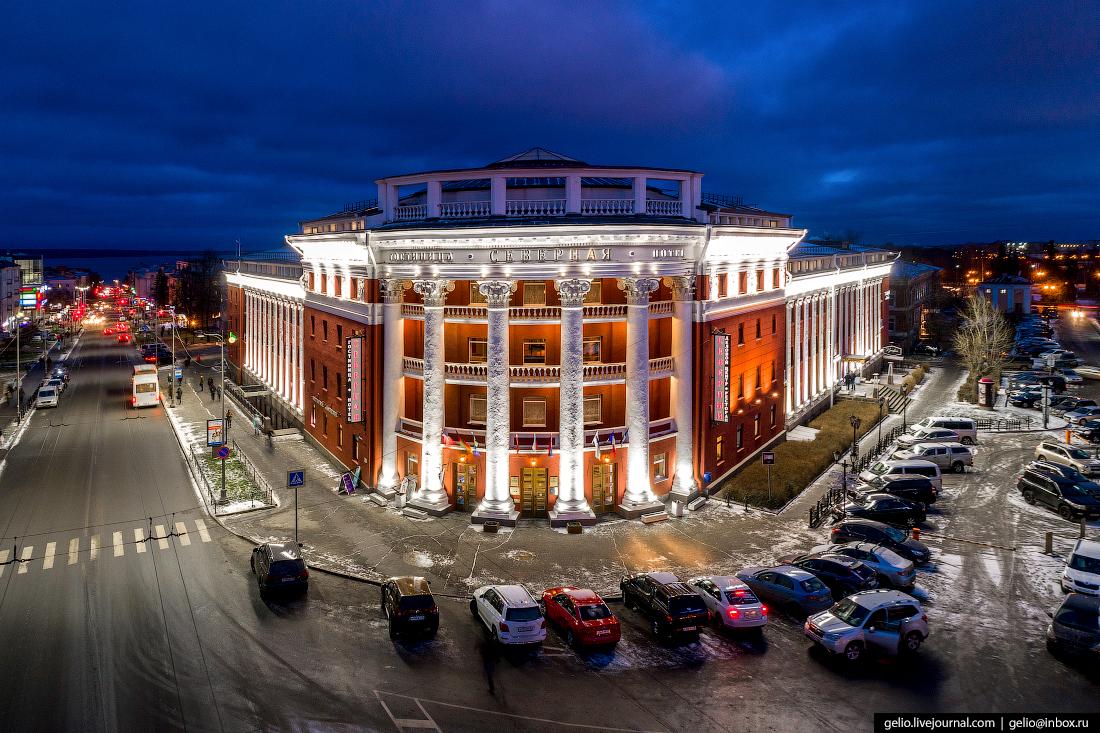 Петрозаводск с высоты, гостиница северная