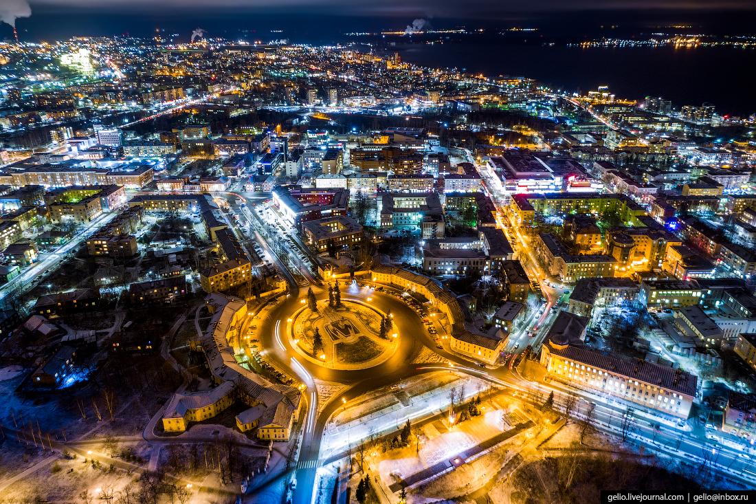 Петрозаводск с высоты, площадь ленина