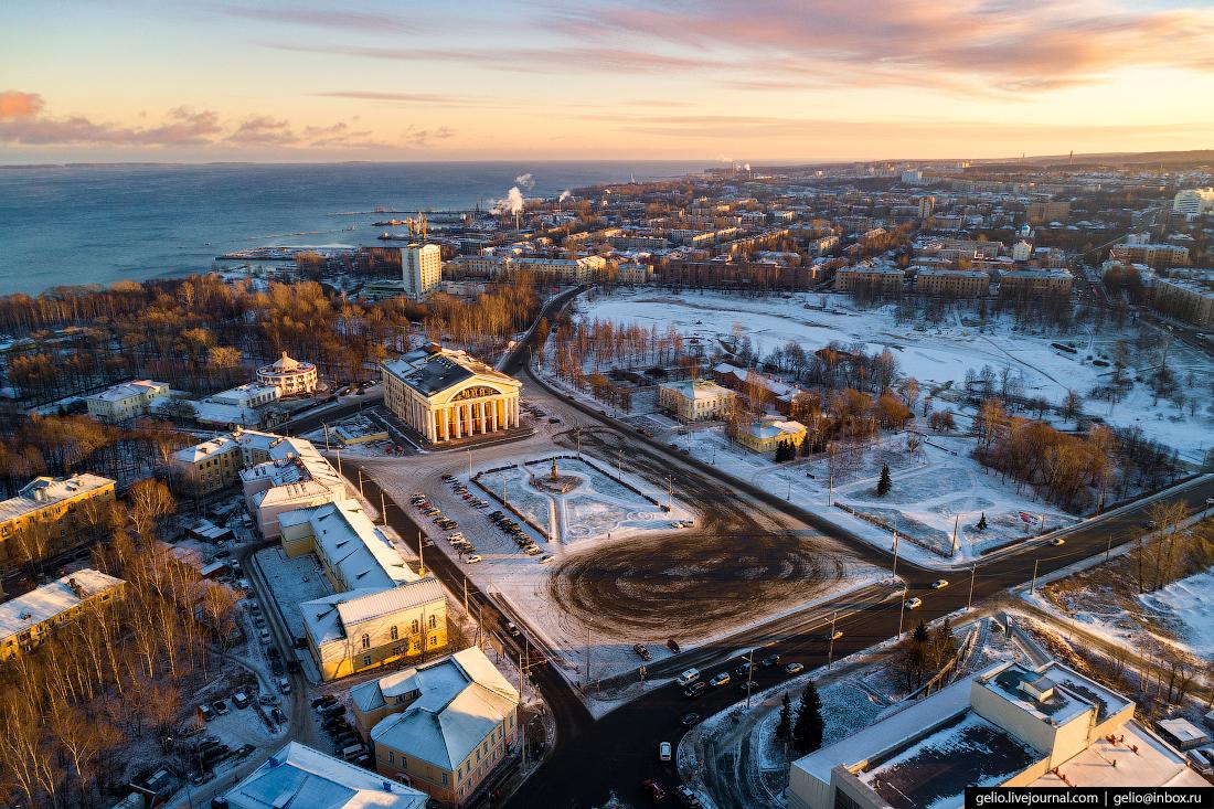 Петрозаводск с высоты, площадь кирова