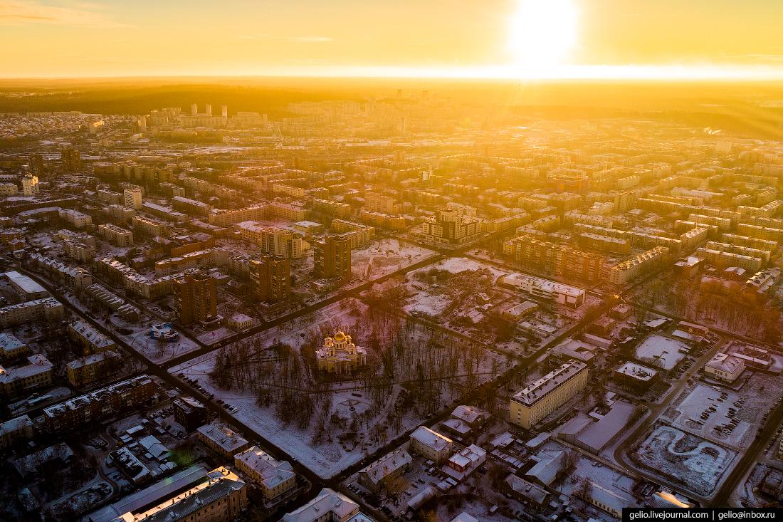 Петрозаводск с высоты, Голиковский парк