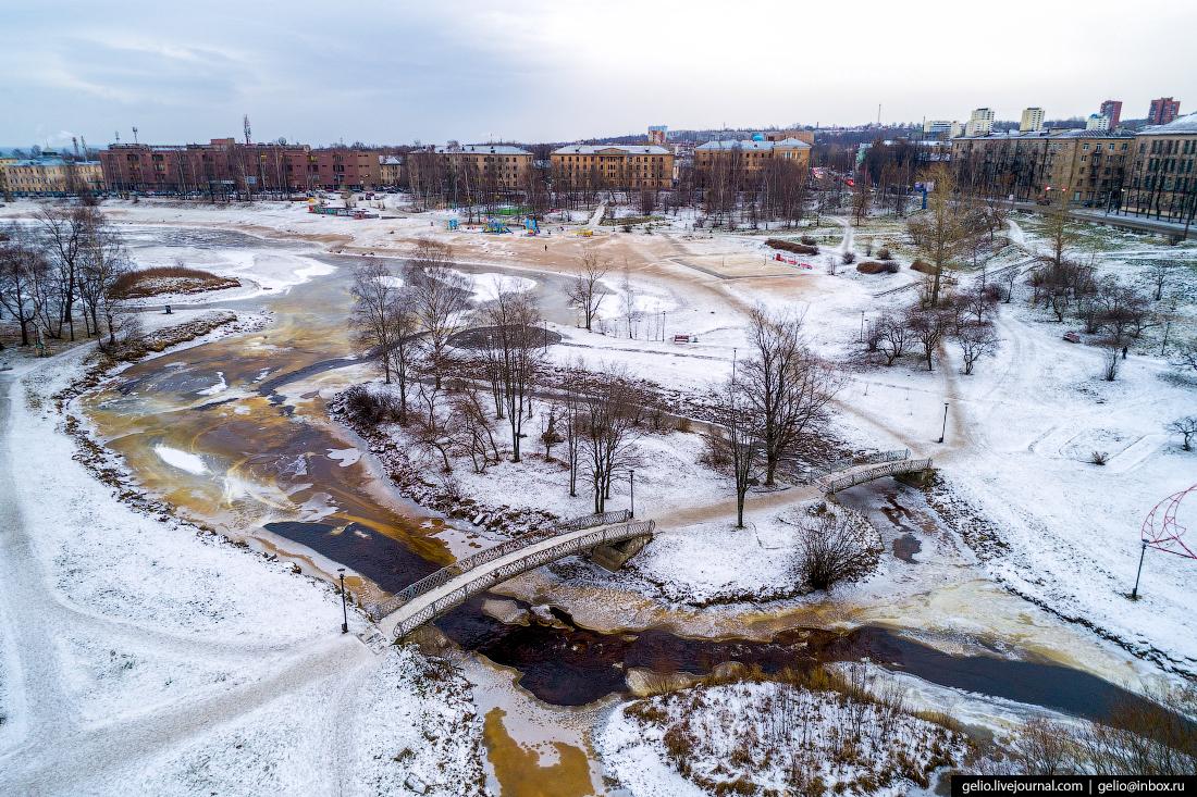 Петрозаводск с высоты, Зарецкий парк