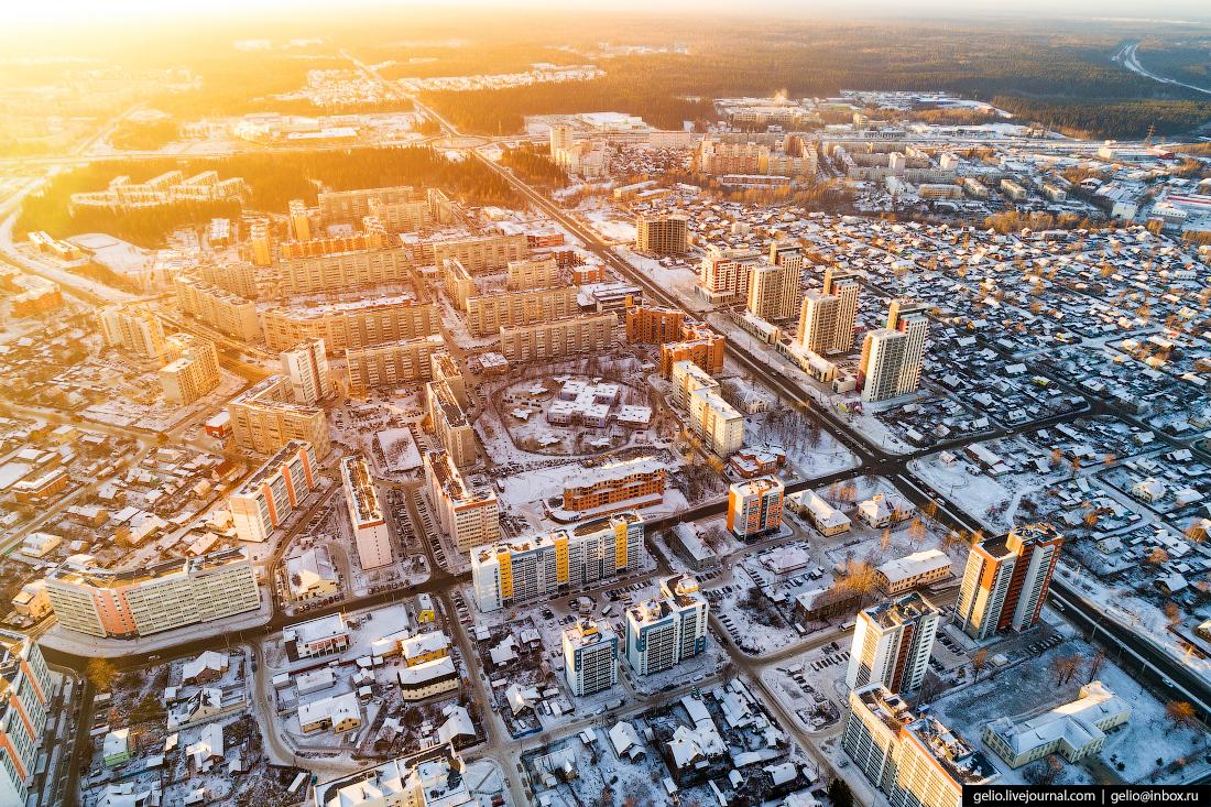Петрозаводск с высоты, жилой район Перевалка