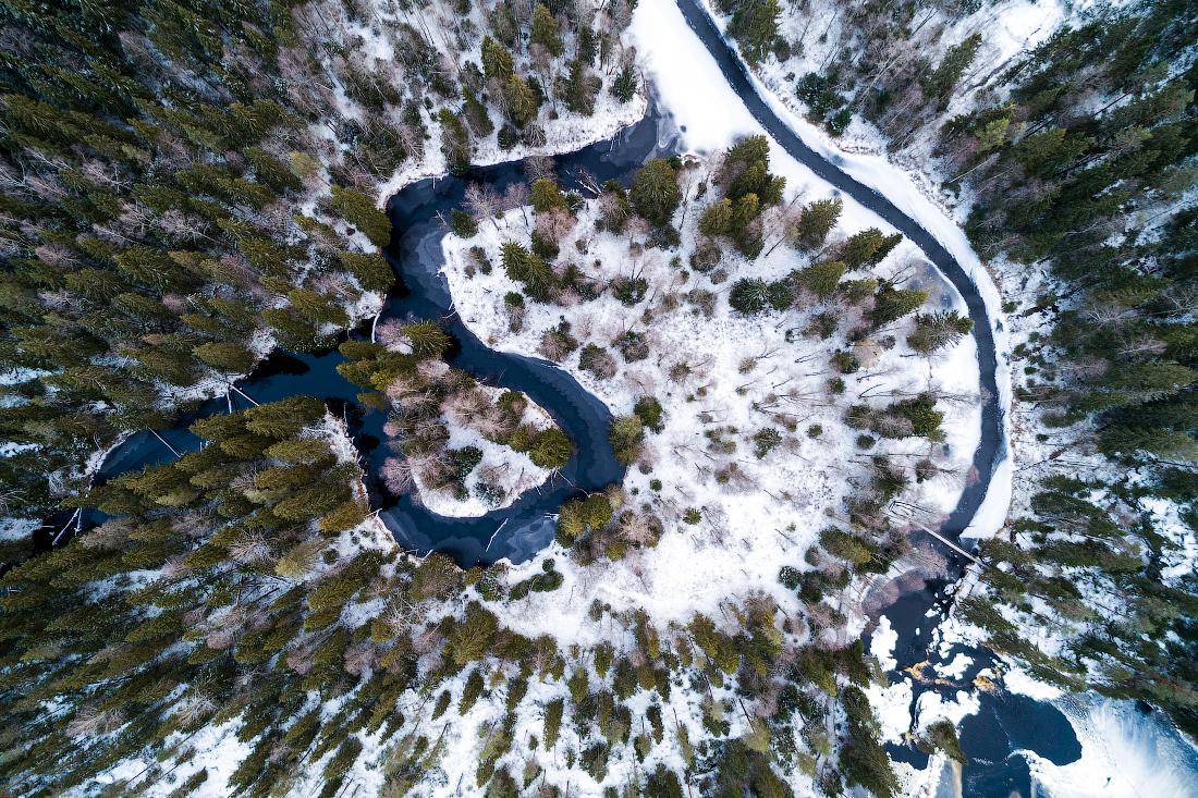 зимняя карелия, природа