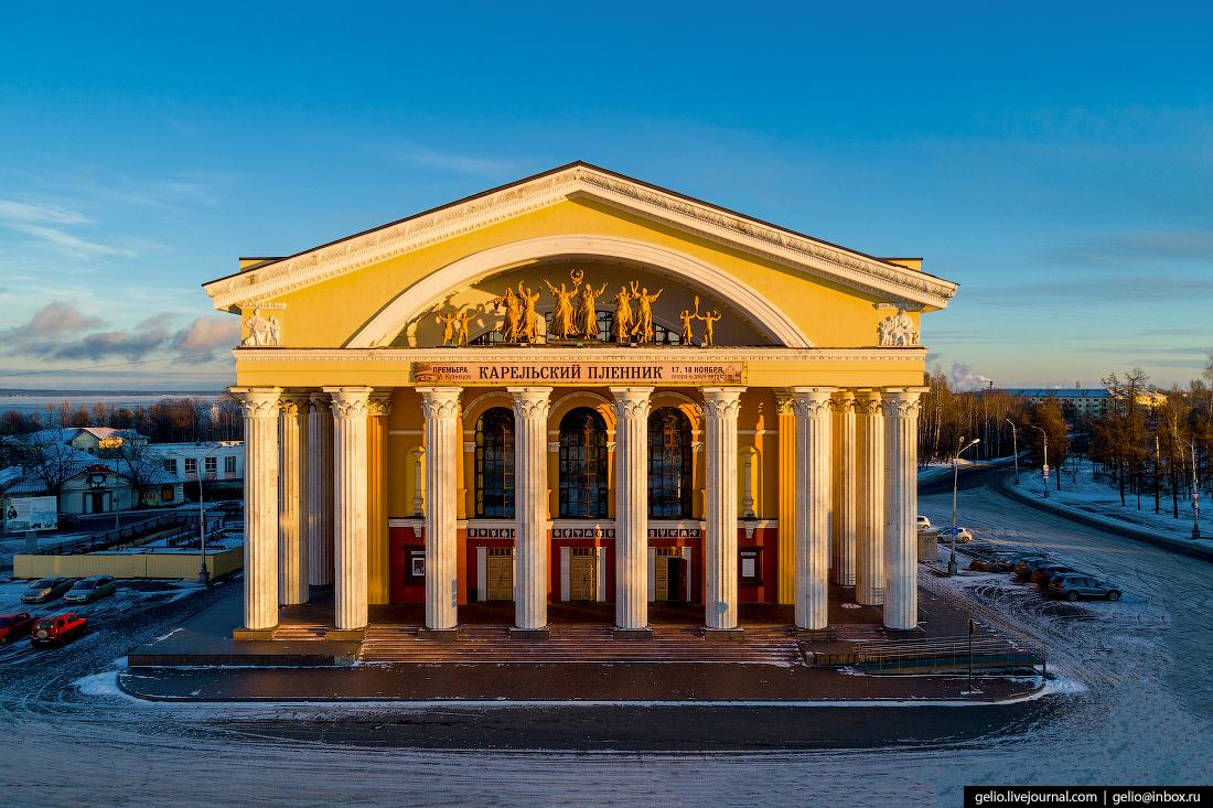 Петрозаводск с высоты, театр