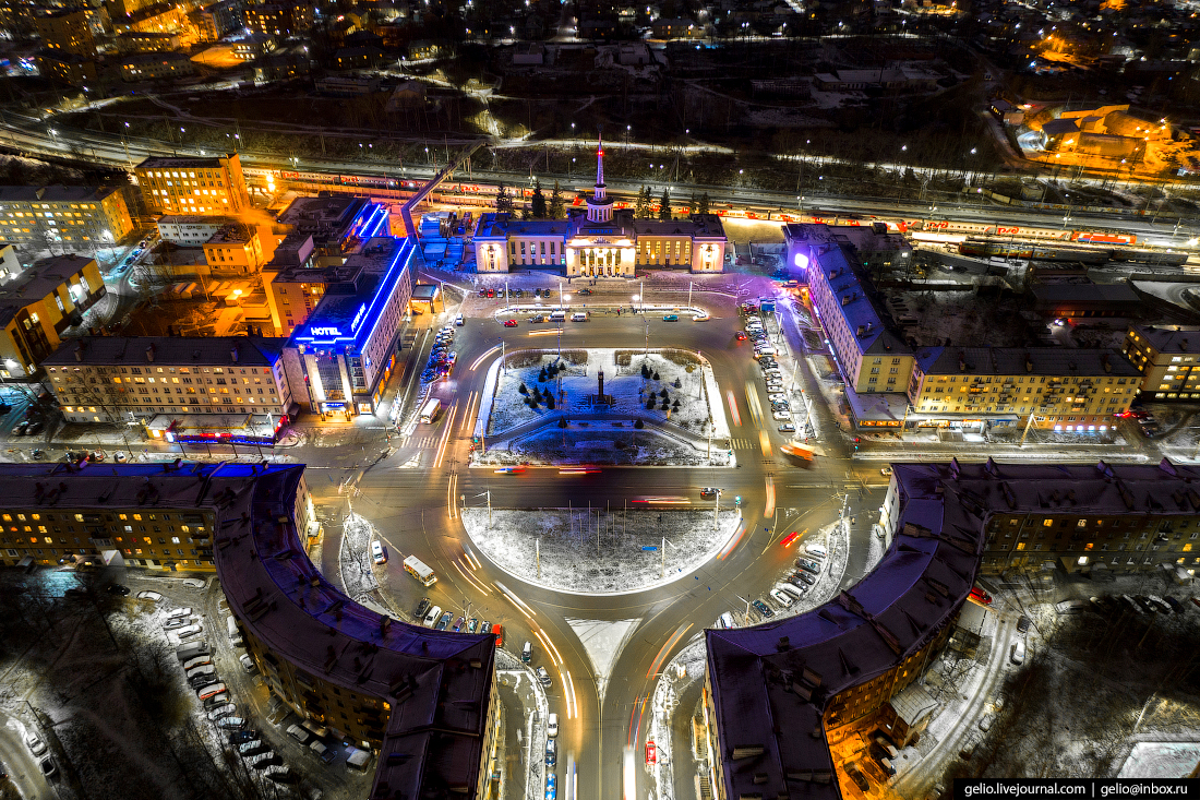 Петрозаводск с высоты, привокзальная площадь