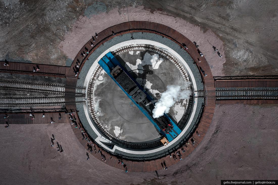 Рускеальский экспресс, паровоз, Поворотный круг