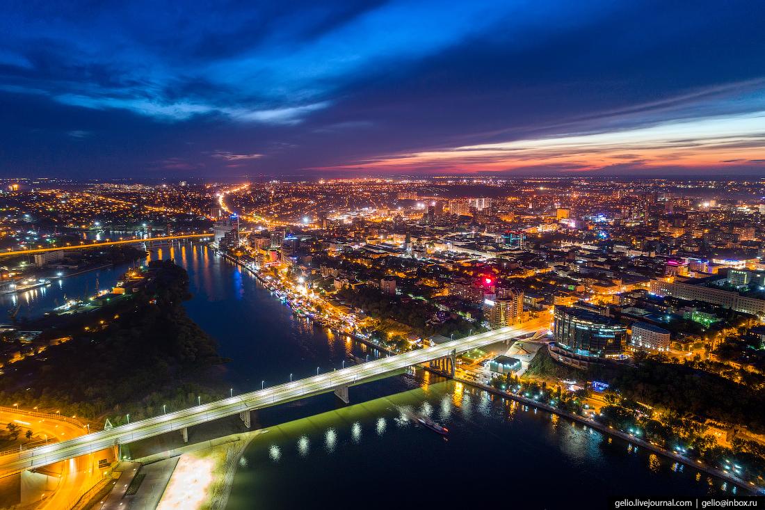 Ростов-на-Дону с высоты Новый Ворошиловский мост