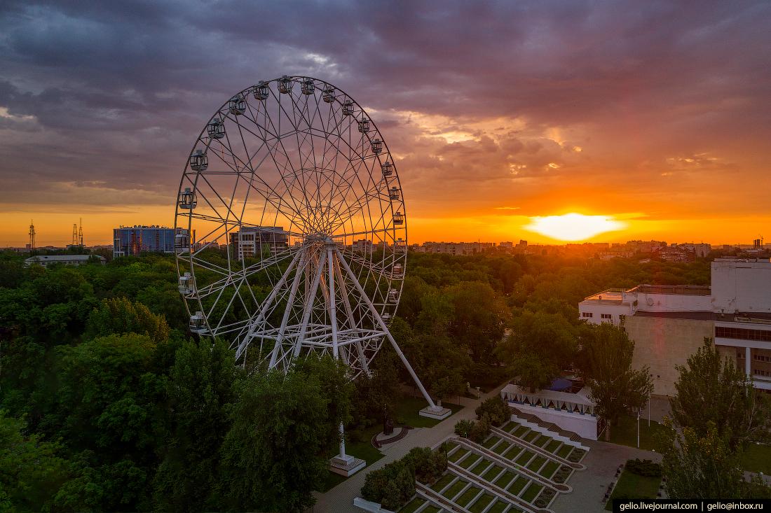 Ростов-на-Дону с высоты колесо обозрения