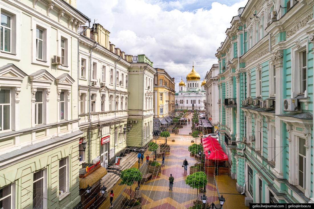 Ростов-на-Дону с высоты Соборный переулок