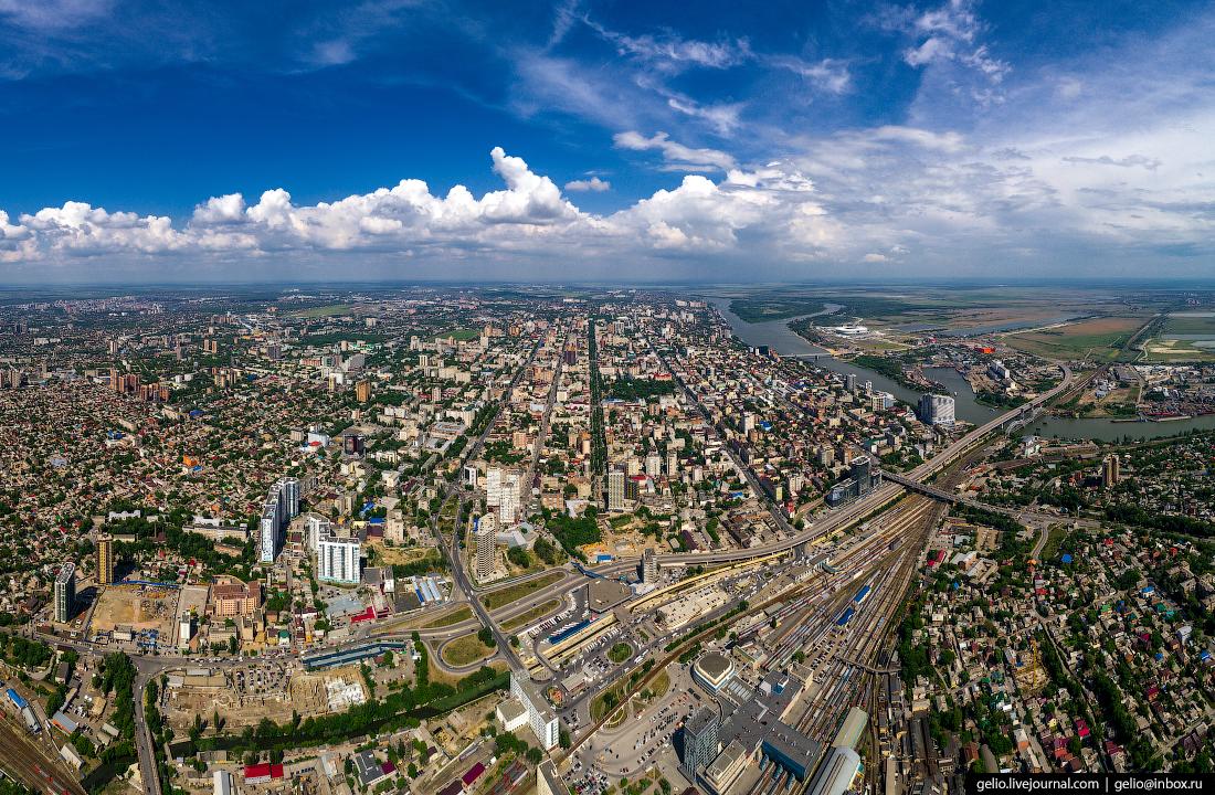 Ростов-на-Дону с высоты Привокзальная площадь
