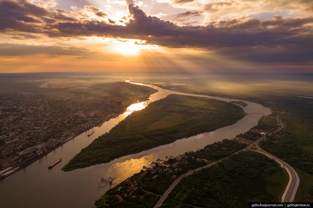 Ростов-на-Дону с высоты Зелёный остров