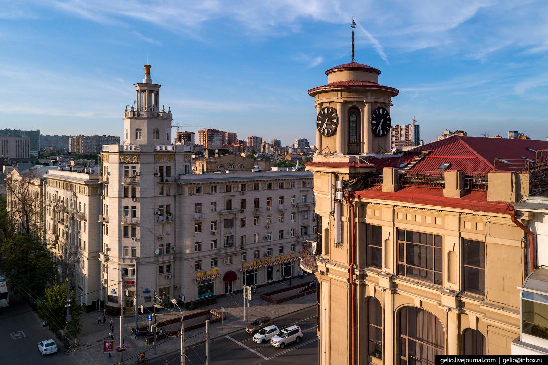 Ростов-на-Дону с высоты башня часы цум