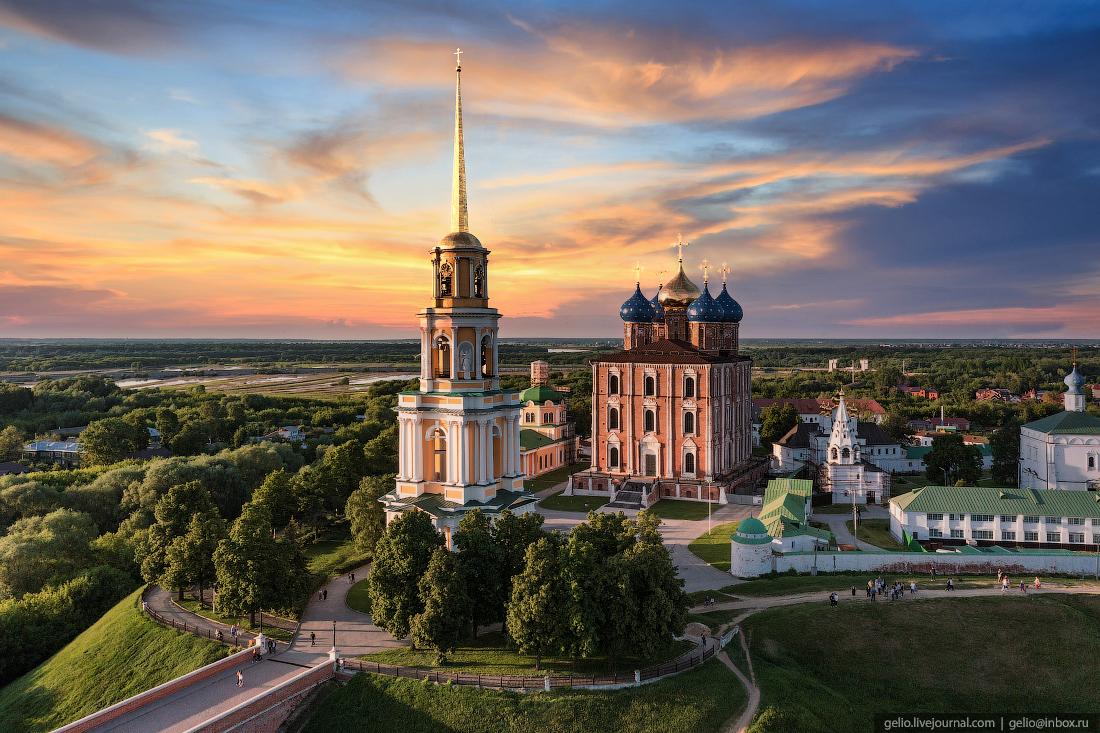рязань с высоты, кремль