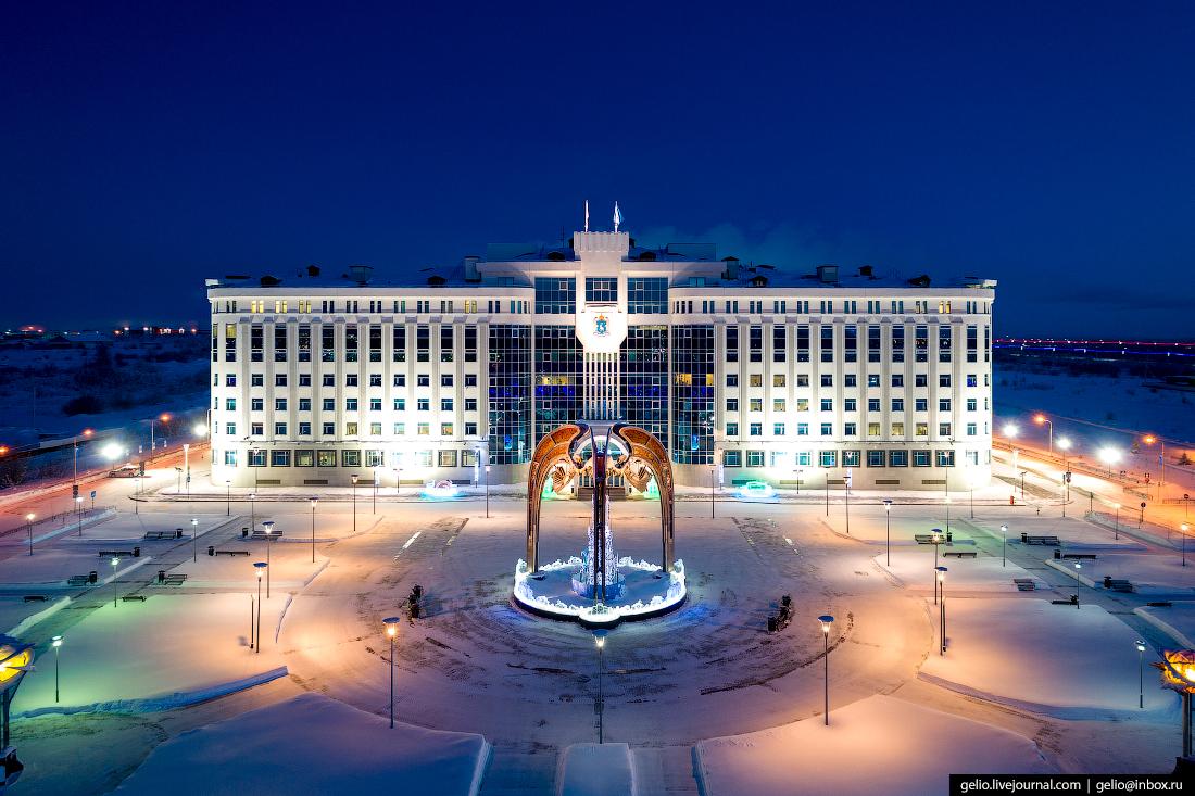 Салехард с высоты, правительство Ямало-Ненецкого автономного округ, правительство ЯНАО