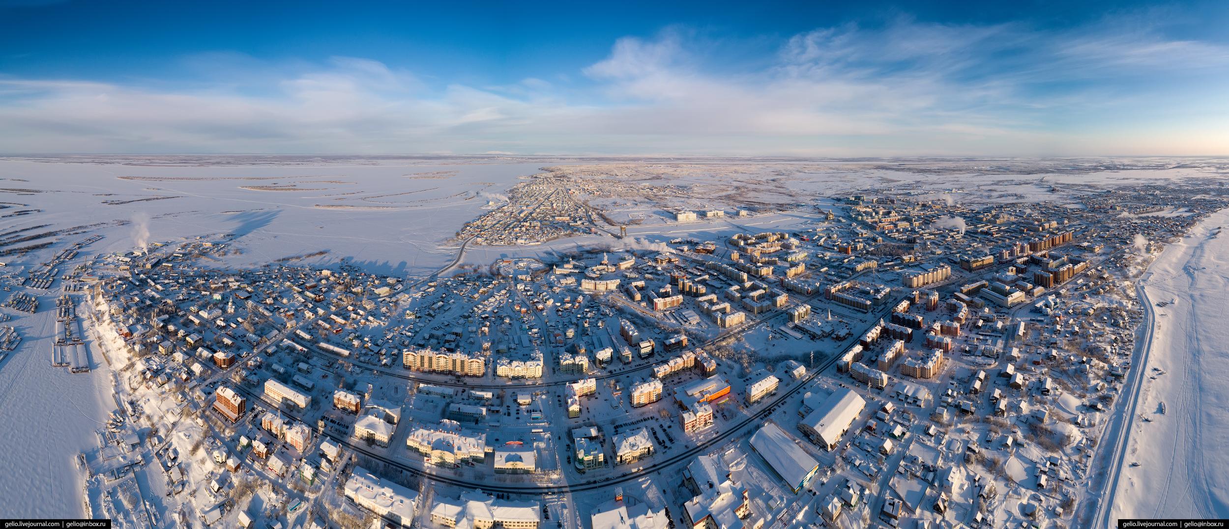 паноарма, Салехард с высоты, Ямал