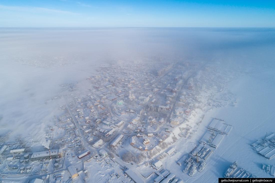 Обдорский острог, Салехард с высоты, Ямал