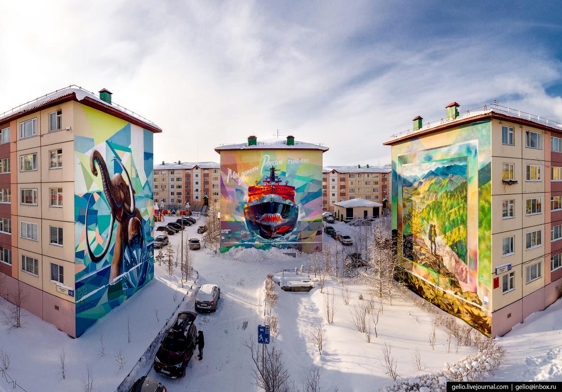 Салехард, граффити, Чубынина, ледокол ямал