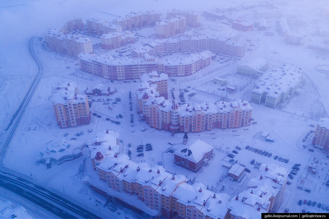 Салехард с высоты, Микрорайон Арктический