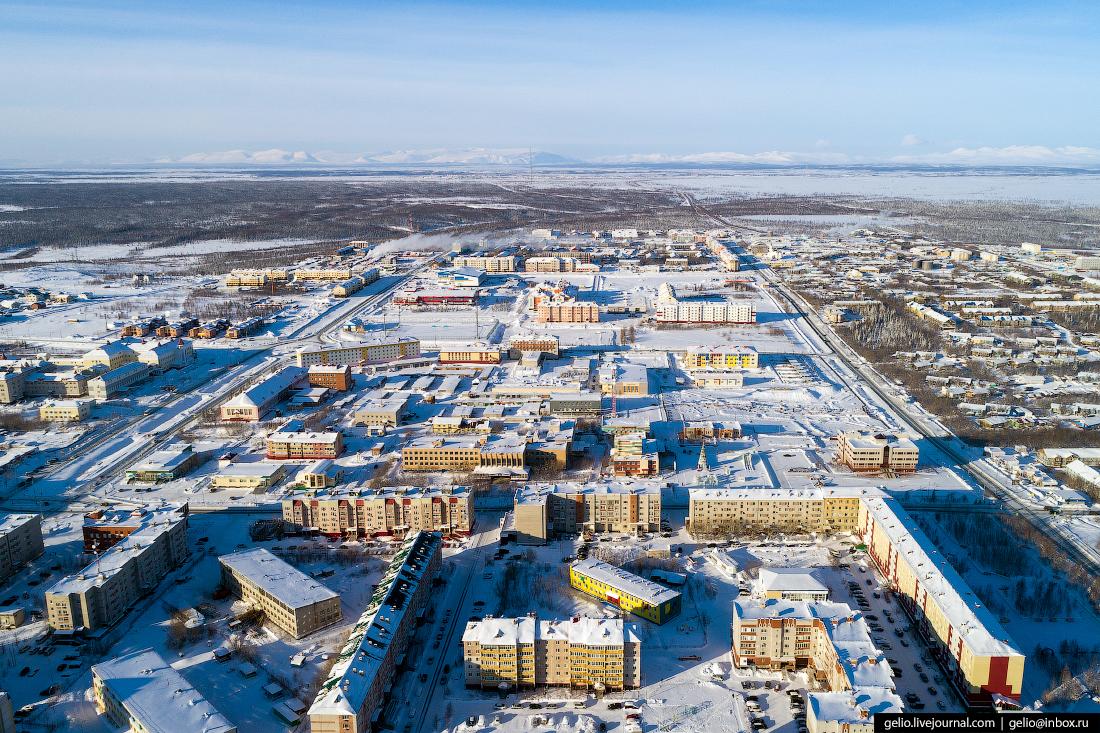 Лабытнанги с высоты, Ямал