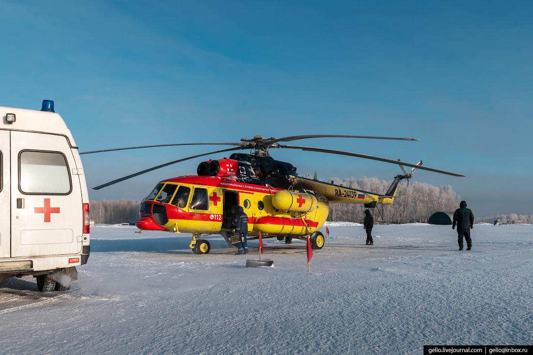 Санитарная авиация Новосибирская область вертолёт ми-8