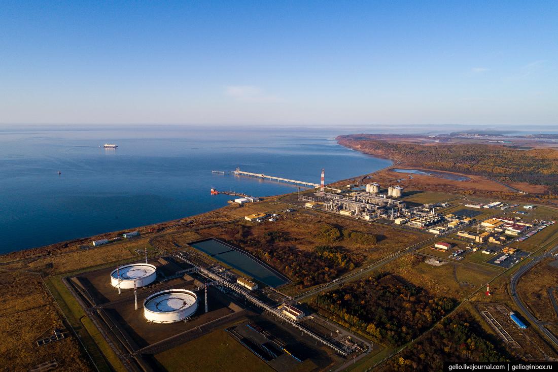 Комплекс «Пригородное» на Сахалине — первый в России завод по сжижению