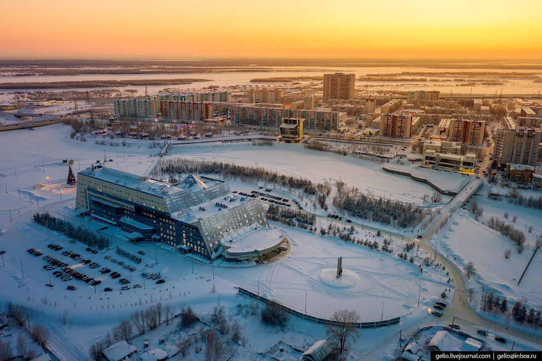 Зимний Сургут с высоты государственный университет