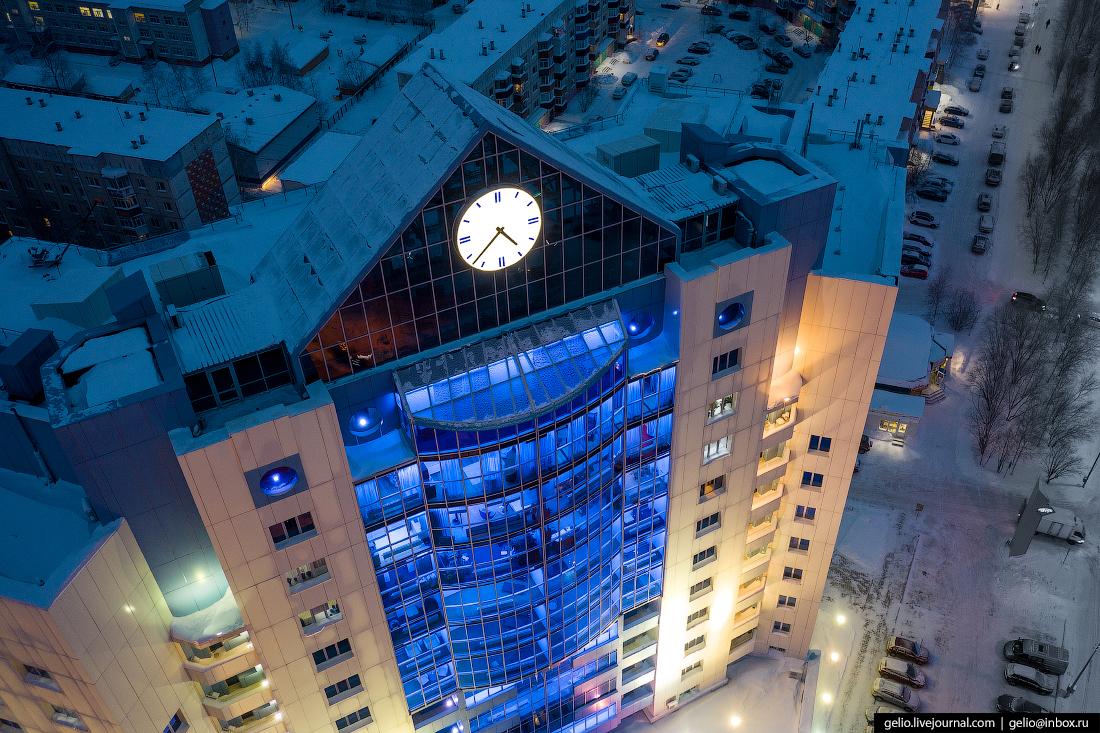 Зимний Сургут с высоты City Center