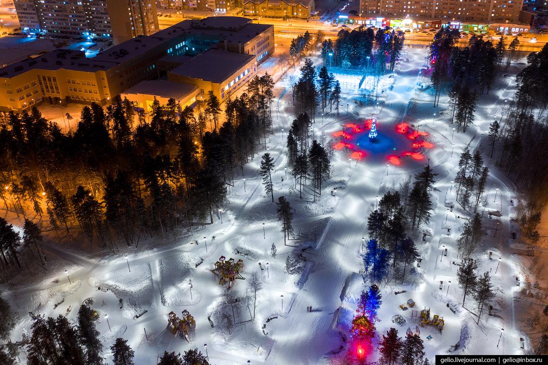 Зимний Сургут с высоты Иосифа Каролинского