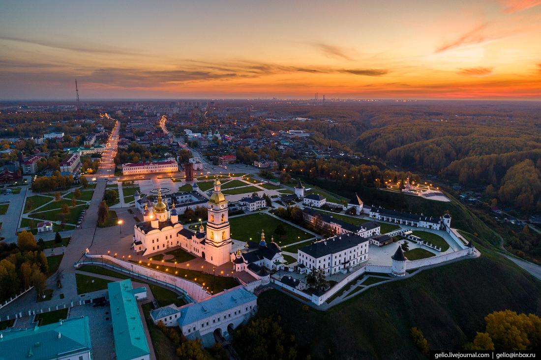 Фото Тобольск с высоты, Тобольский кремль