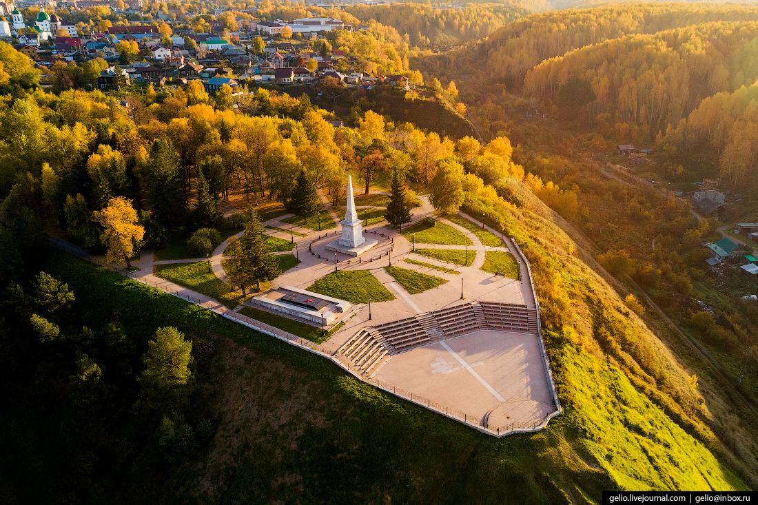 Фото Тобольск с высоты, Сад Ермака