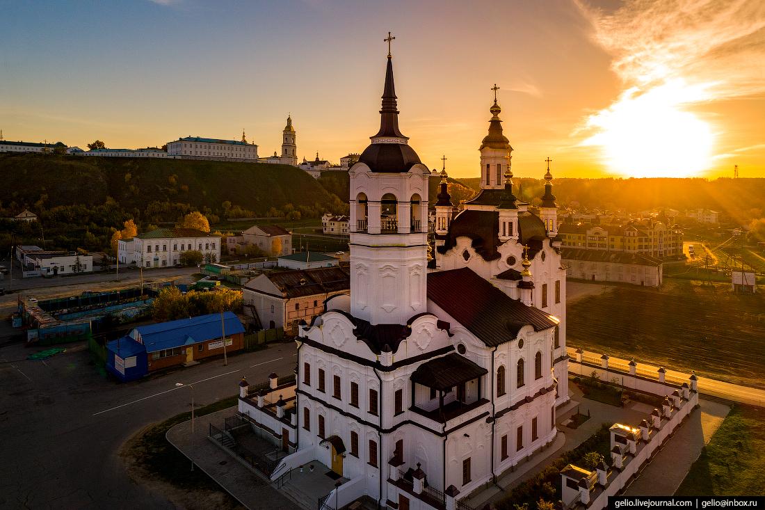 Фото Тобольск с высоты, Церковь Захария и Елизаветы