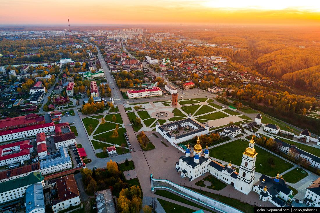 Фото Тобольск с высоты, Красная площадь