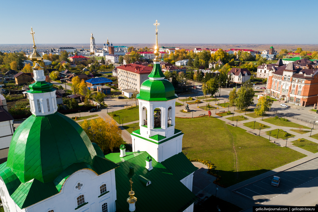 Фото Тобольск с высоты, Петропавловская церковь