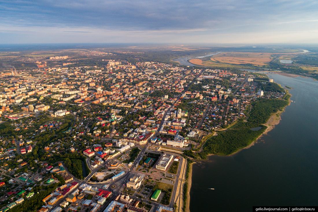Проспект Ленина Томск с высоты