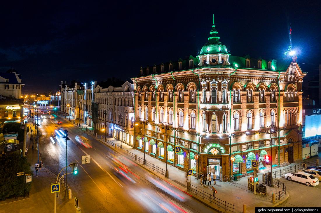 Доходный дом Голованова Томск с высоты