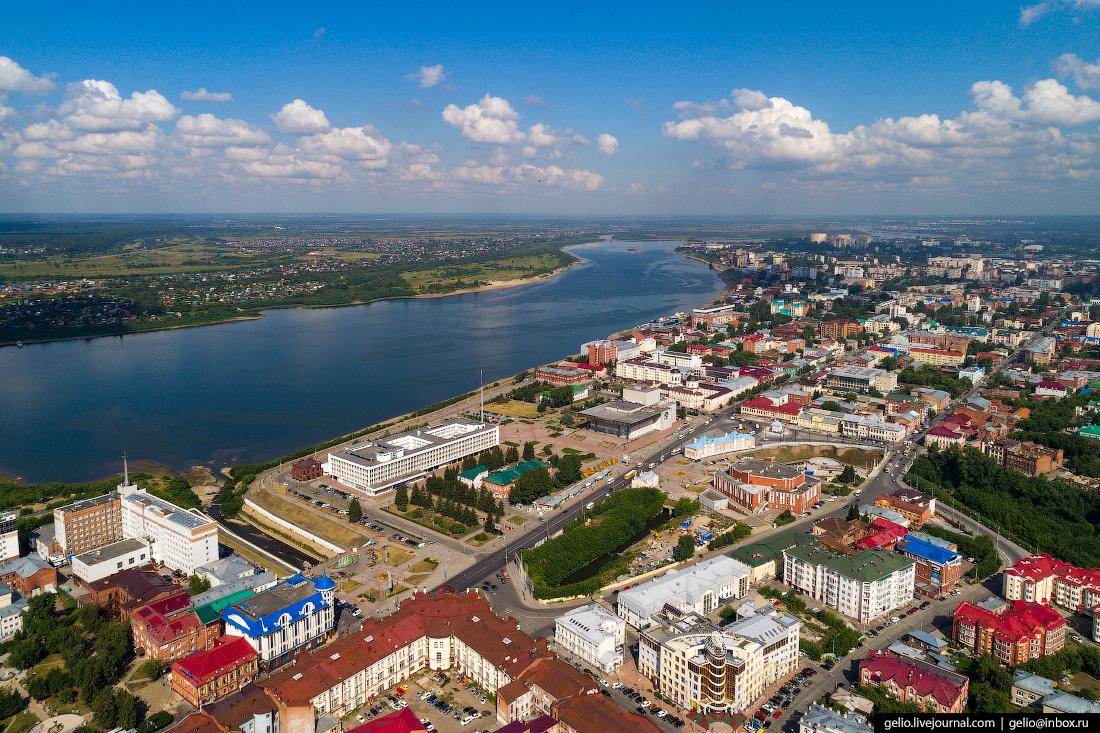 Томск с высоты Губернаторский квартал