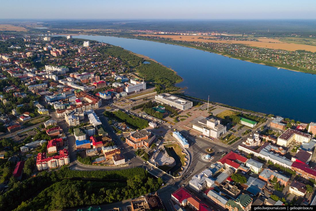 Томск с высоты Площадь Ленина