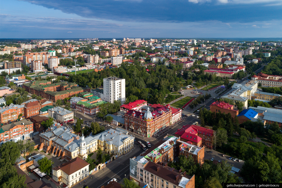 Томск с высоты Дом Кухтериных