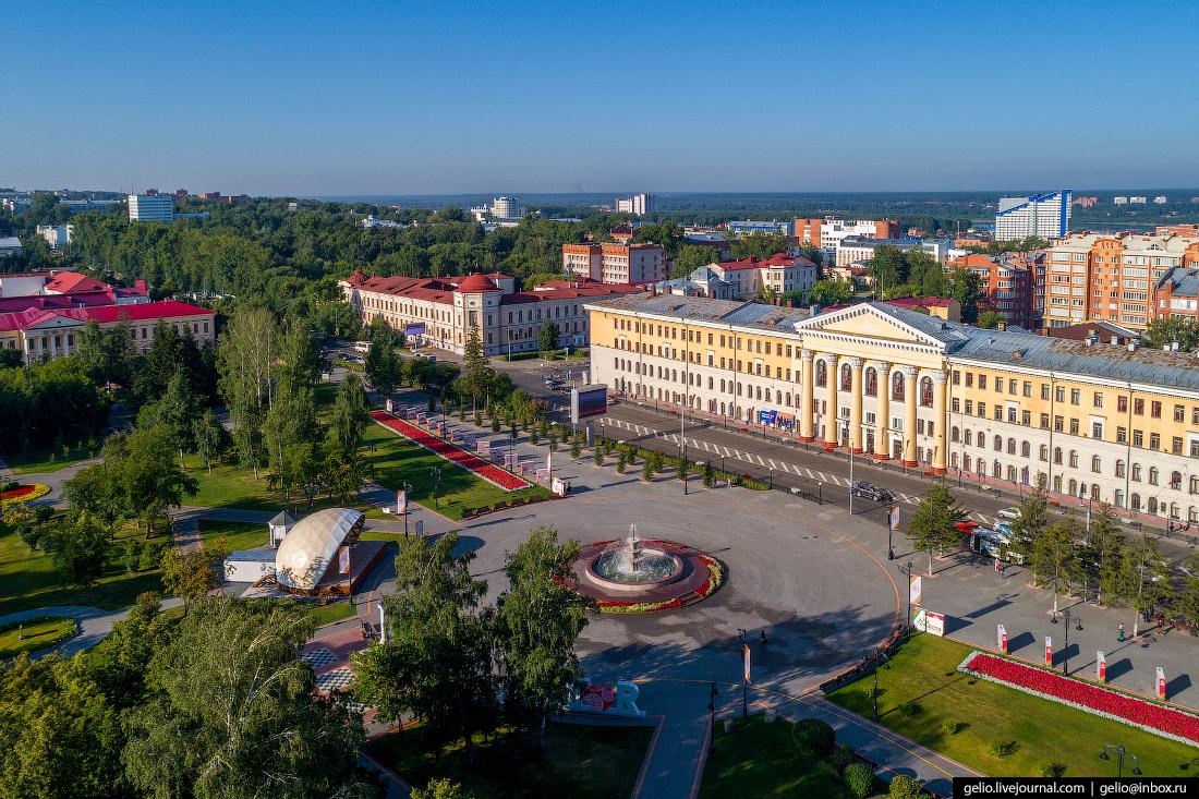 Томск Ново-Соборная площадь
