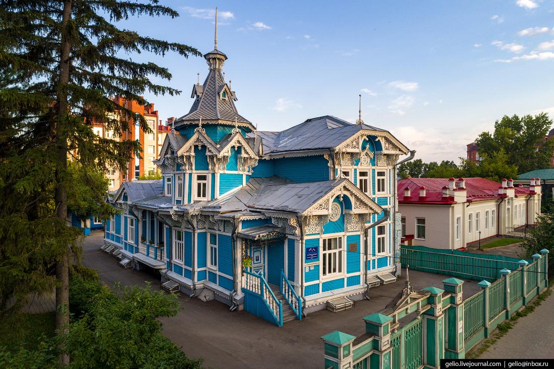 Томск с высоты Дом купца Голованова