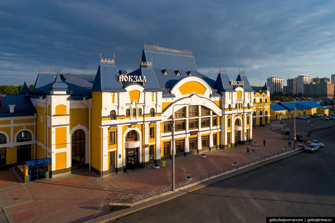 Томск с высоты вокзал
