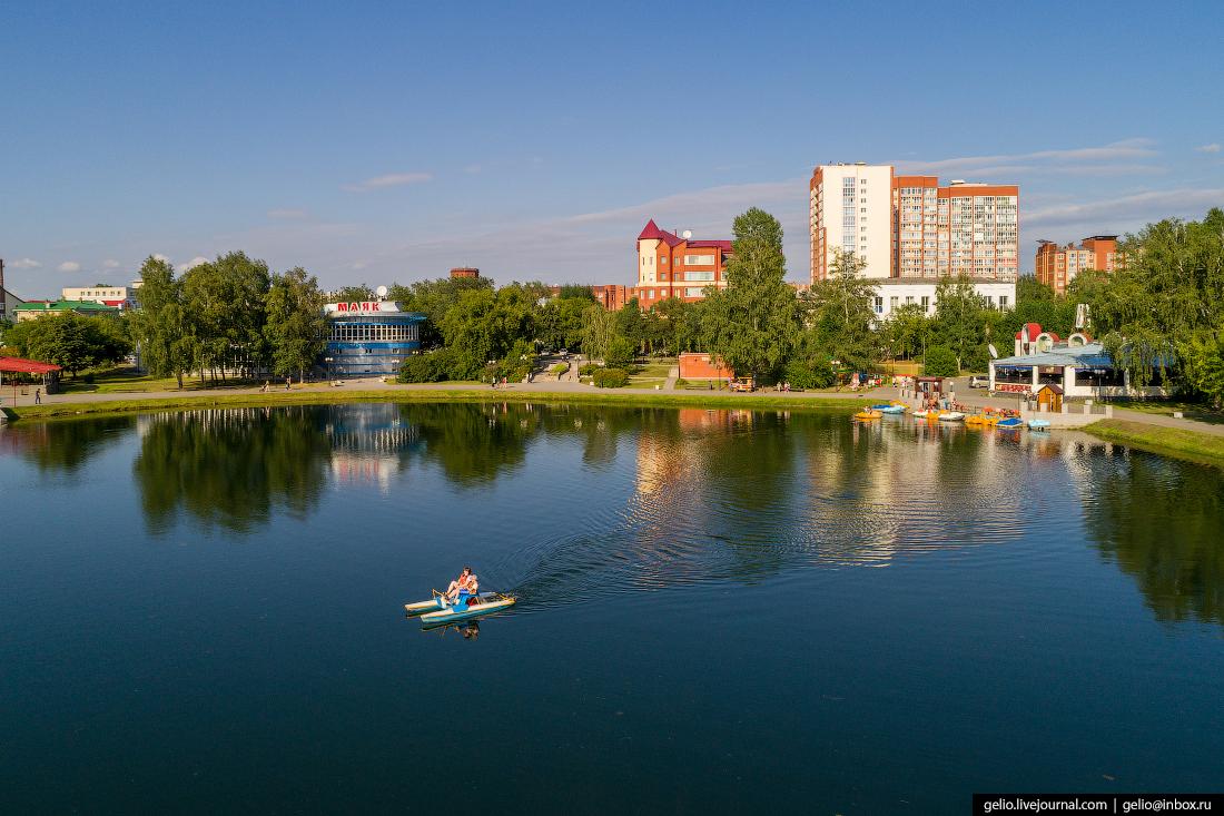 Томск с высоты Белое озеро