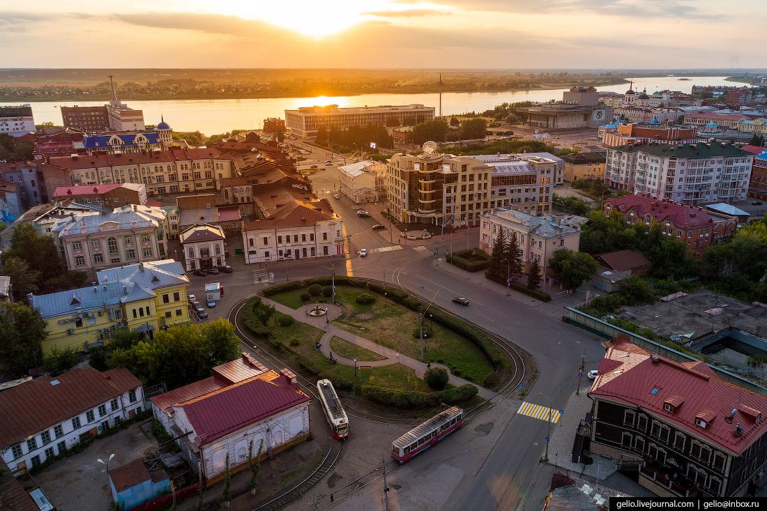 Томск Трамвайное кольцо Площади Батенькова