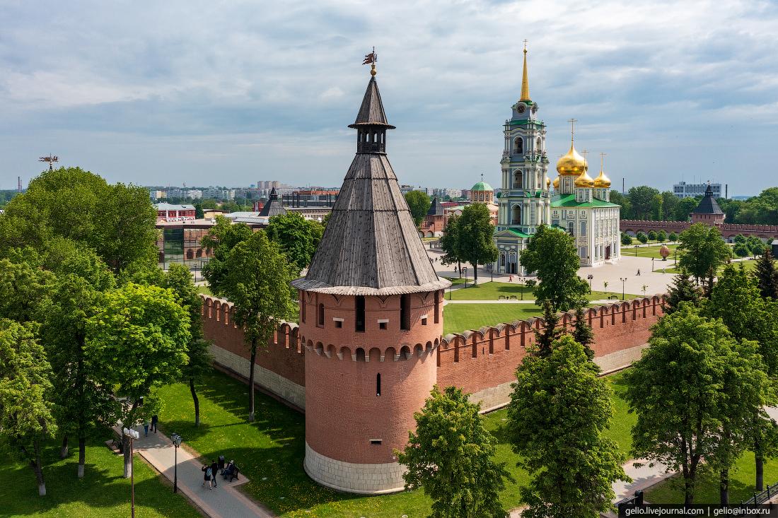 тула с высоты, тульский кремль, башня