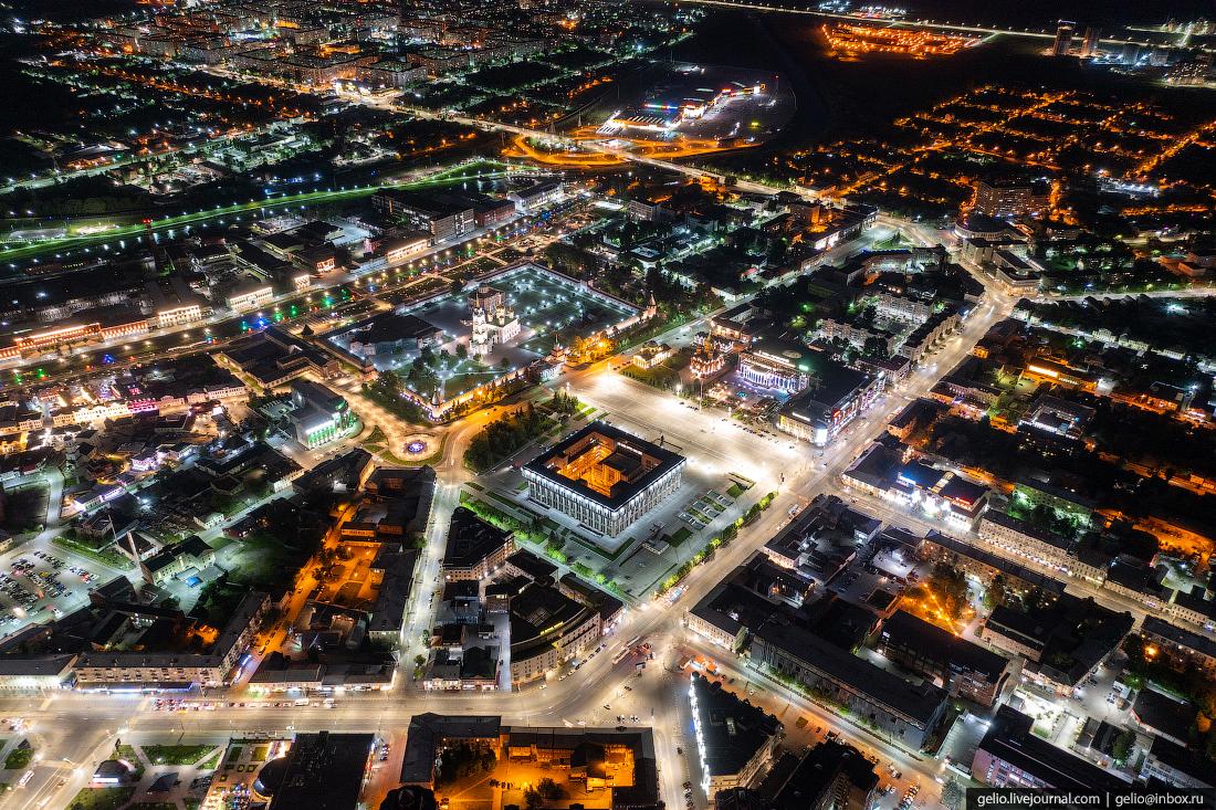 тула с высоты, ночной город