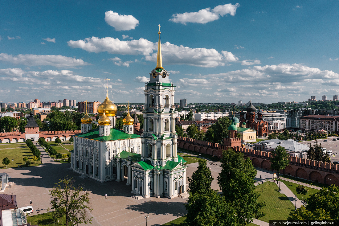 тула с высоты, Успенский собор, тульский кремль