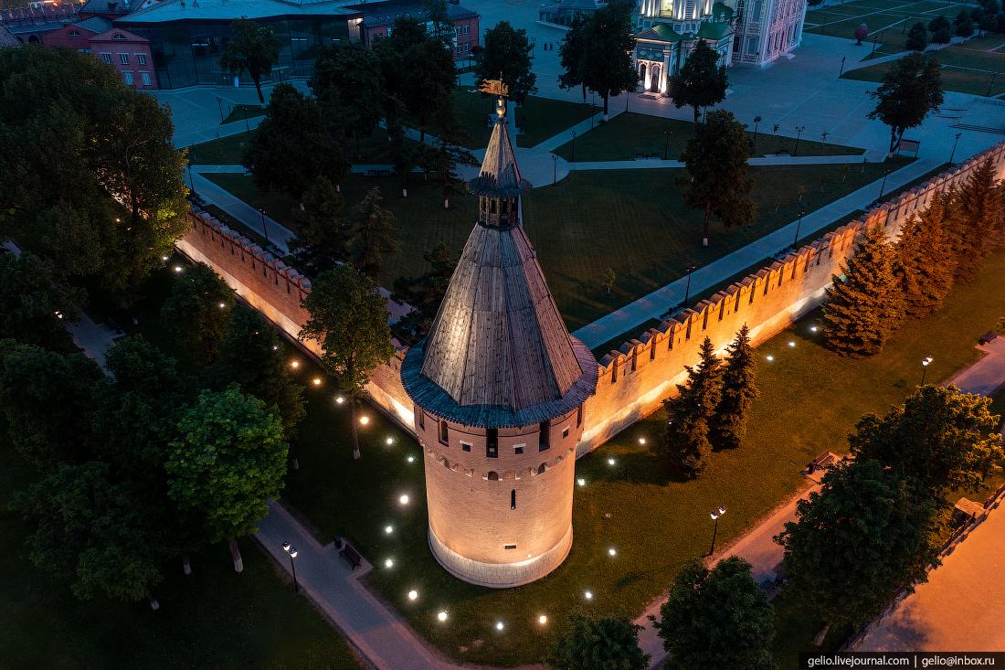 тула с высоты, Спасская башня тульского кремля